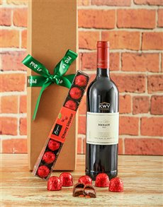 gifts: Luxury Cherry Liqueur Chocolates and Wine Hamper!