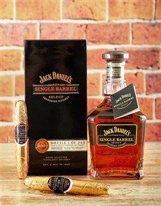 gifts: Jack Daniels Single Barrel Whiskey & Choc Cigars!