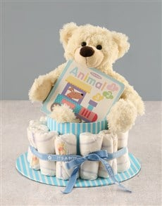 gifts: Baby Boy Nappy Cake!