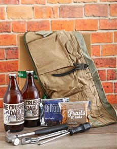 gifts: Dads Toolset and Snacks!
