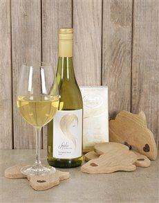 gifts: Elegant White Wine & Choc Hamper!