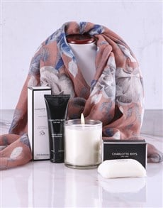 gifts: Touch of Red Scarf and Charlotte Rhys Hamper!