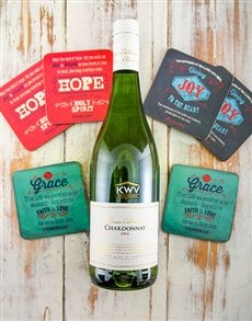 gifts: Chardonnay and Coasters Gift Set!