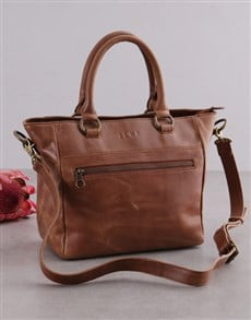 gifts: Zemp Paris Tan Leather Handbag!