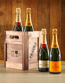 gifts: Moet & Veuve Crate!