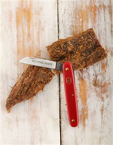 gifts: Victorinox Biltong Knife Red!