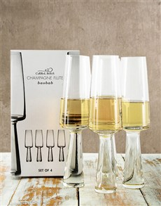 gifts: Carrol Boyes Champagne Glasses!