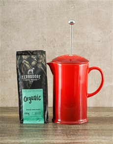 gifts: Le Creuset Coffee Pot and Terbodore Coffee Combo!