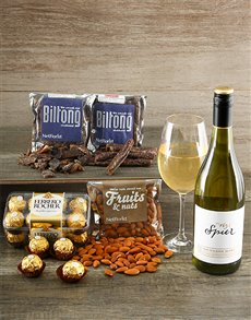 gifts: Spier Sauvignon Blanc and Snacks!