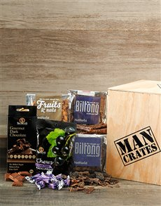 Gifts and Hampers - All Gifts: Banting Friendly Man Crate!