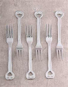 gifts: Carrol Boyes Set of 6 Cake Forks H/wave!