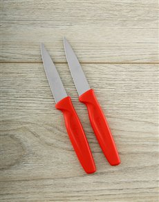 gifts: Red 2pc Paring Knife Set!