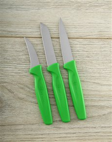 gifts: Green Pairing Knife Set!