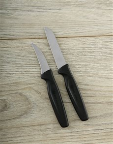 gifts: Black 2pc Pairing Knife Set!