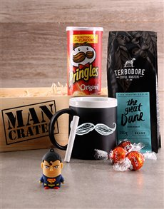 gifts: Superman & Snacks Man Crate!