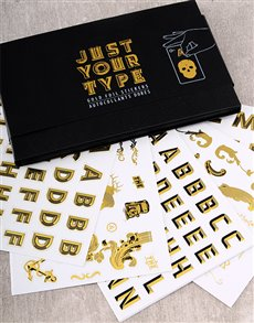 gifts: Gold Foil Customisation Sticker Kit!