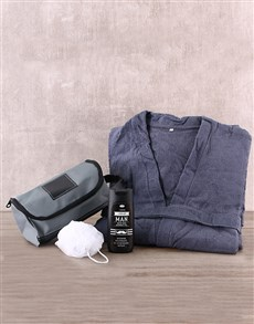 gifts: Authentic Man Bath and Robe Gift Set!