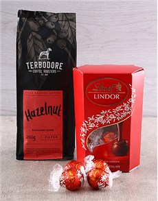 gifts: Terbodore Coffee and Lindt Delight!