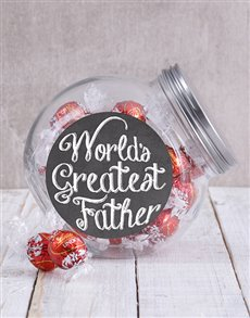 gifts: Worlds Greatest Father Candy Jar!