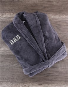 gifts: Charcoal Fleece Robe for Dad!