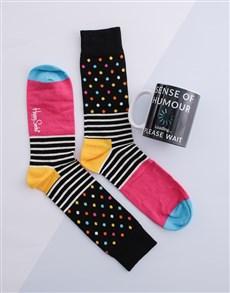 gifts: Colour Changing Mug & Happy Socks!
