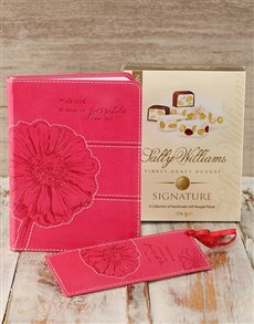 gifts: Cerise Journal & Sally Williams Nougat!