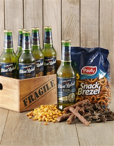 gifts: Pretzels and Beer Crate!