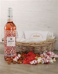 gifts: Protea Rose and Snack Basket!