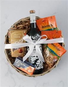 gifts: Protea Merlot &Snack Basket!