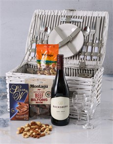 gifts: Backsberg & Snacks Picnic Basket!