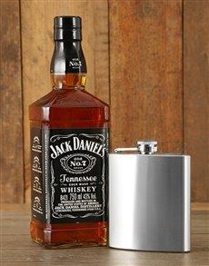 gifts: Jack Daniels and Hip Flask Hamper!
