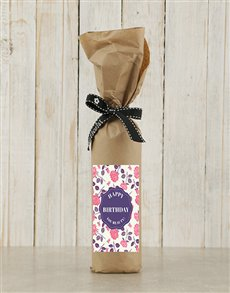 gifts: Birthday Roses Wine in Craft Paper!