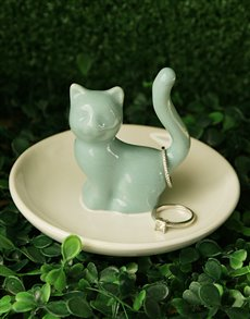 gifts: Cat Jewellery Ceramic Holder!