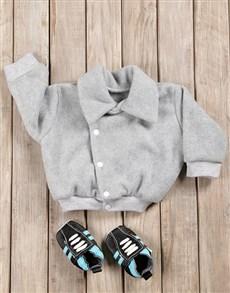 gifts: Baby Boy Aviator Jacket & Shoes Gift Set!