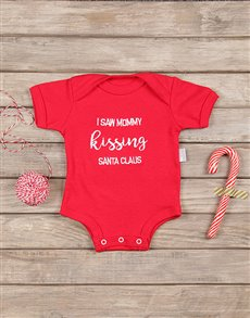gifts: I Saw Mommy Christmas Onesie!