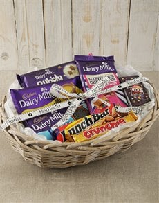 gifts: Cadbury Chocolate Hamper Basket!