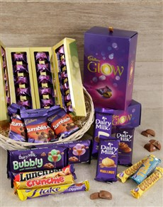 gifts: Cadbury Deluxe Chocolate Basket !