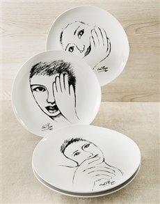 gifts: Carrol Boyes Face Dinner Plate Set!