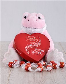 gifts: Pink Valentines Frog and Lindor!