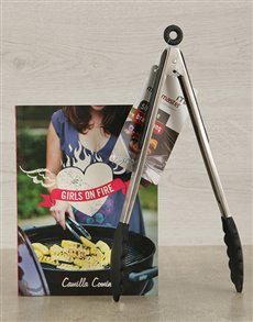 gifts: Girls on Fire Cookbook & Braai Tongs!