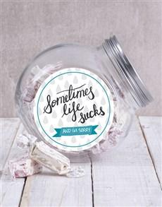gifts: Sometimes Life Sucks Candy Jar!