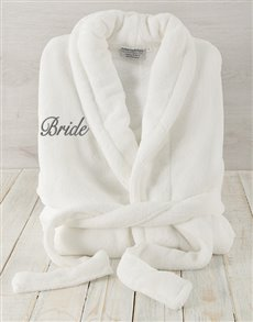 gifts: Bride White Fleece Gown!