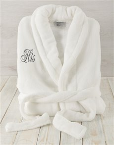 gifts: His White Fleece Gown !