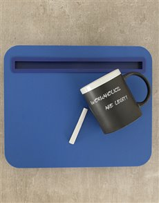 gifts: iBed Lap Desk and Chalk Mug!