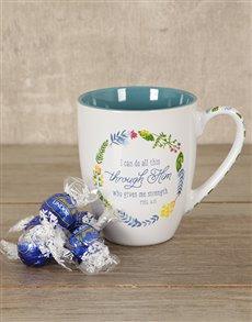 gifts: Through Him Mug Hamper!