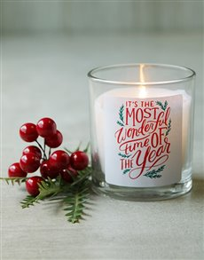 gifts: Most Wonderful Time Festive Candle!