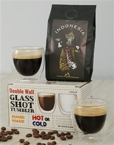 gifts: Indonesia Coffee and Coffee Glasses Gift!