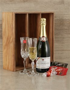 gifts: Champagne and Crystal Crate!