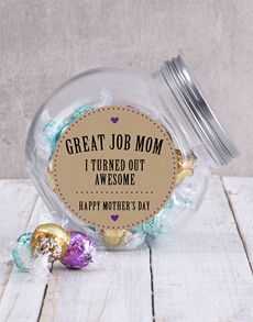 gifts: Great Job Mom Candy Jar!
