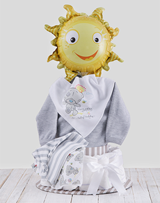 gifts: All Dressed Up With Tatty Teddy Nappy Cake!